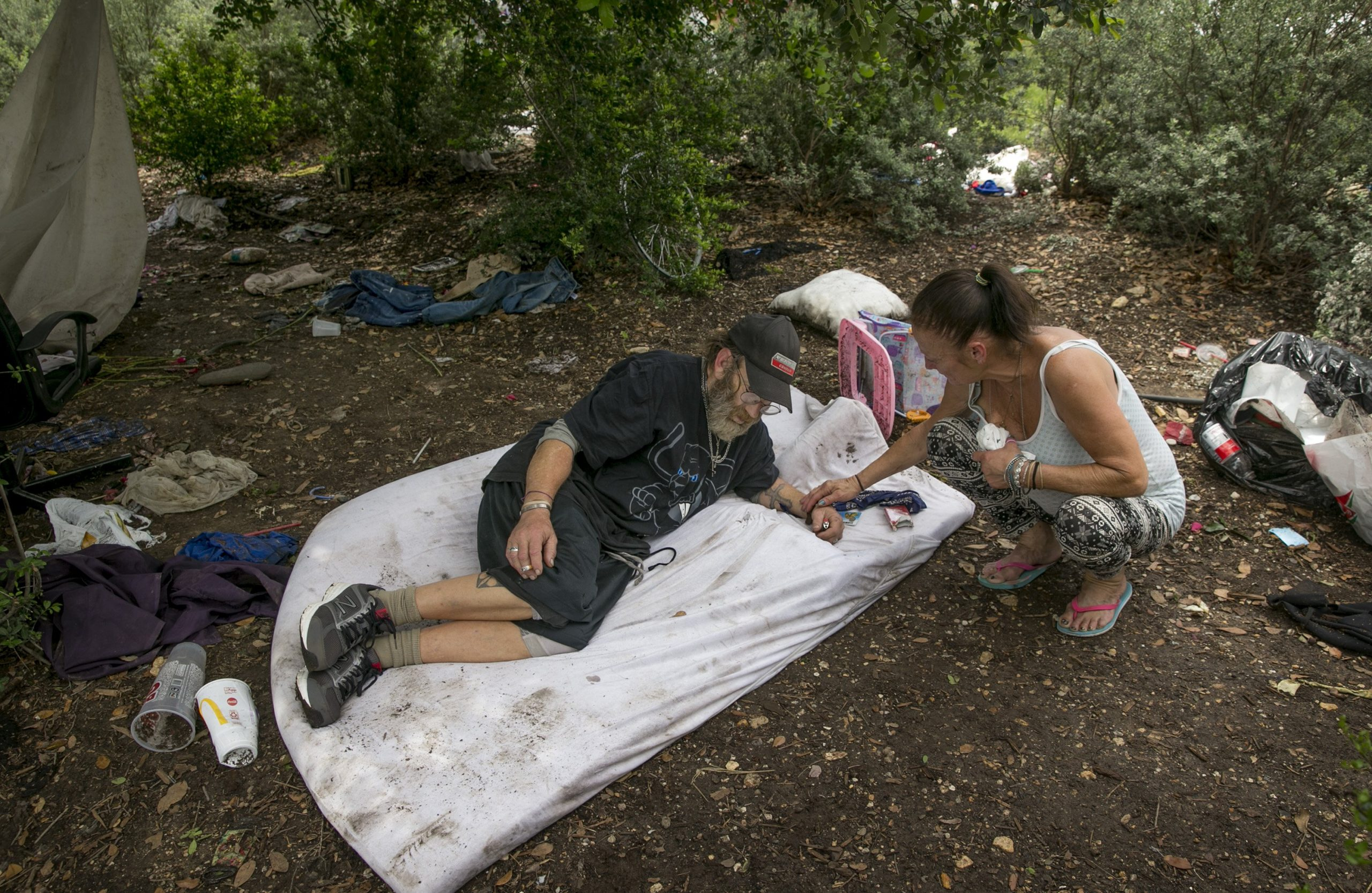 Photo of Talking to the Homeless About the New Camping Ordinance in Austin, Texas